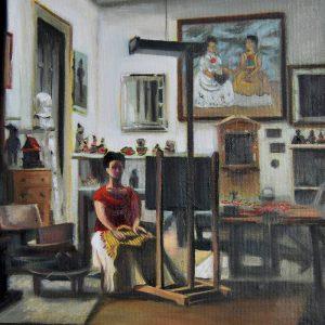 Detalle Estudio Frida Kahlo - Serie Artistudios - Artista pintor Antonio Morales Prats