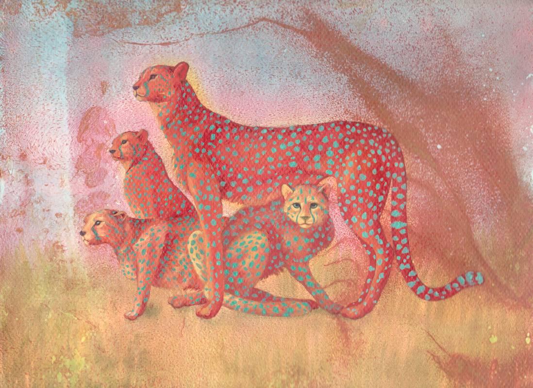Obra Guepardo - Serie Colorzoo - Artista Antonio Morales Prats