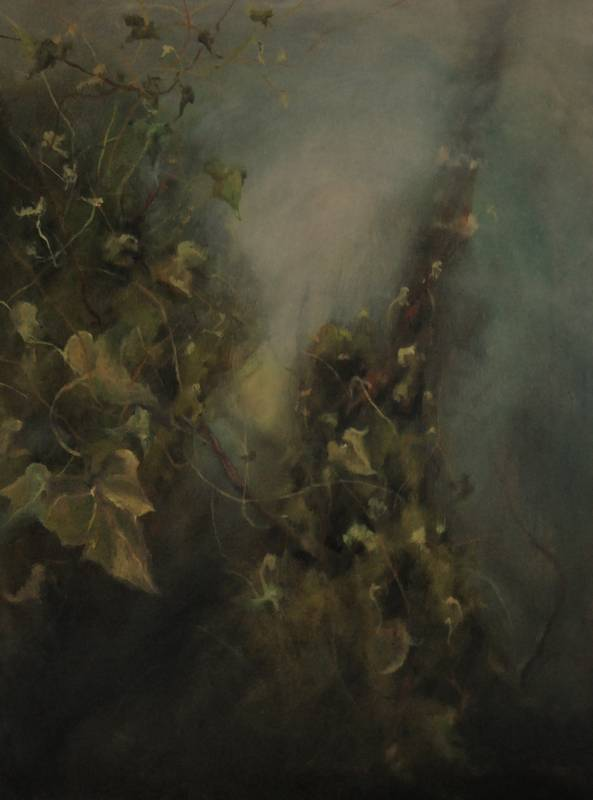 Obra Hiedra - Pintura - Serie Natura - Artista pintor Antonio Morales Prats