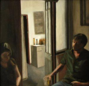 Obra La casica - Serie A nosotros - Artista pintor Antonio Morales Prats