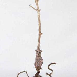 Obra Lemuriz - Escultura - Artista Antonio Morales Prats - Proyecto Kryptos Natura Críptidos