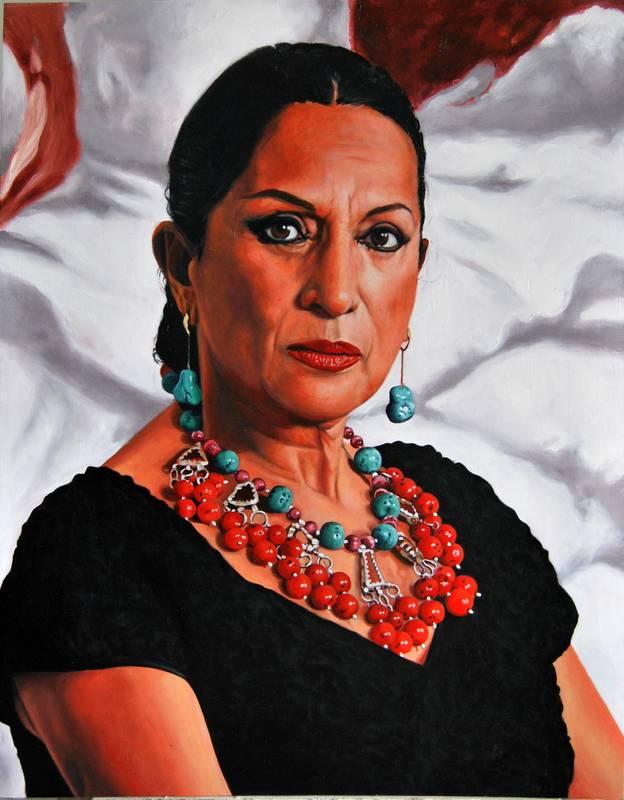 Obra Lola Flores - Serie Musas - Artista pintor Antonio Morales Prats
