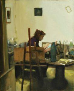 Obra Mª Lina - Serie A nosotros - Artista pintor Antonio Morales Prats
