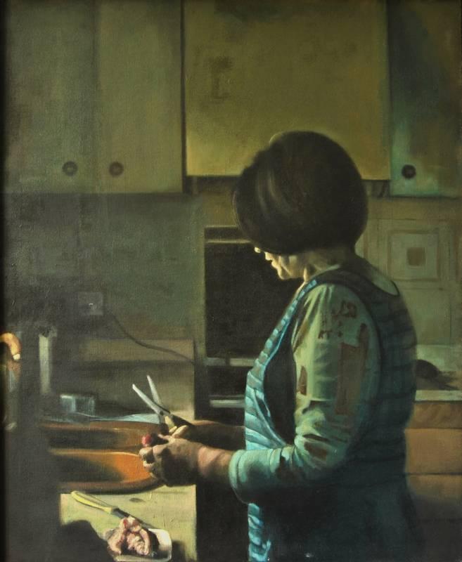 Obra Mamá - Serie A nosotros - Artista pintor Antonio Morales Prats