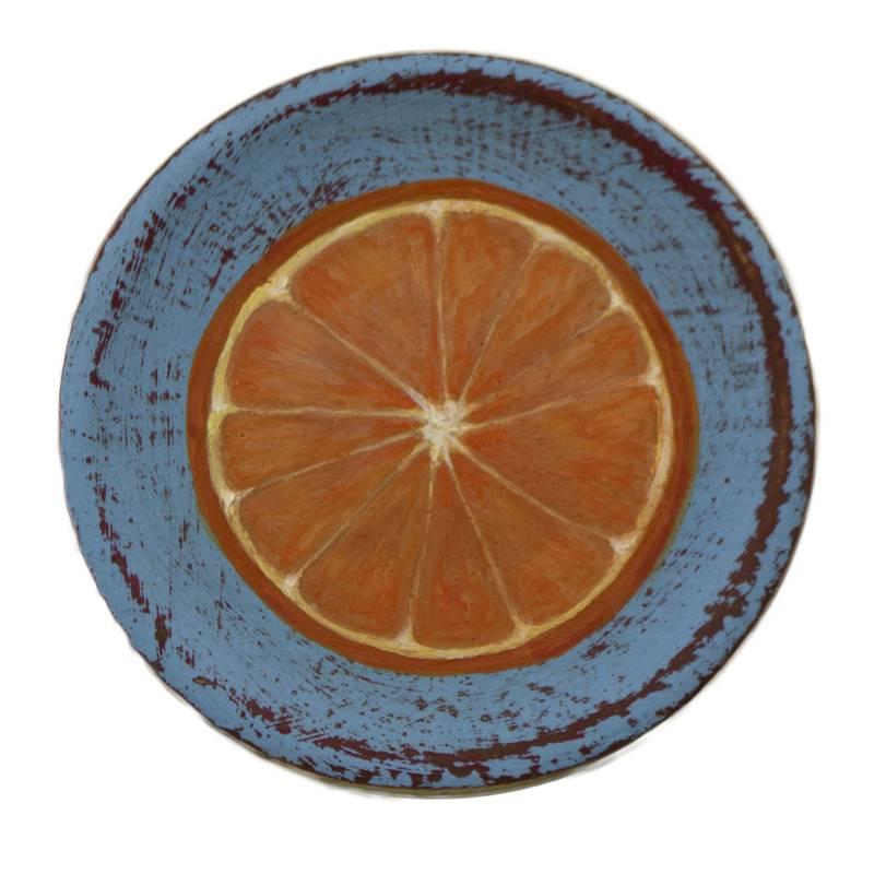 Obra Media naranja - Serie Cocina de Autor - Artista pintor Antonio Morales Prats