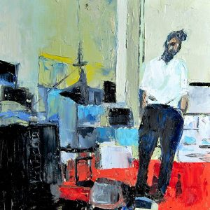 Detalle Estudio Nicolas de Stäel - Serie Artistudios - Artista pintor Antonio Morales Prats