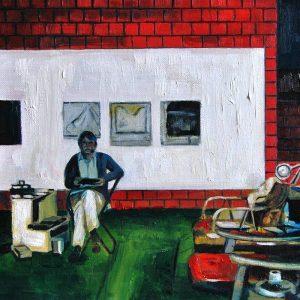 Detalle Estudio Oscar Diebenkorn - Serie Artistudios - Artista pintor Antonio Morales Prats