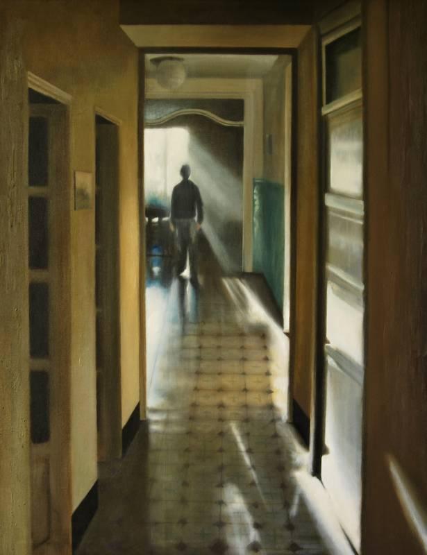 Obra Pasillo hogar - Serie A nosotros - Artista pintor Antonio Morales Prats