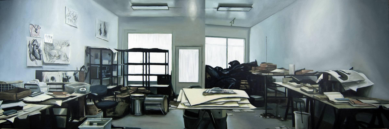 Estudio Raymon Pettibon - Serie Artistudios - Artista pintor Antonio Morales Prats