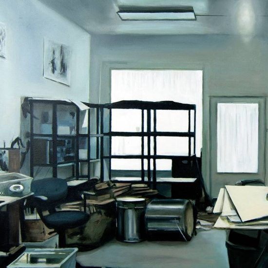 Detalle Estudio Raymon Pettibon - Serie Artistudios - Artista pintor Antonio Morales Prats
