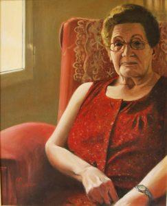 Obra Retrato Abuela - Serie A nosotros - Artista pintor Antonio Morales Prats