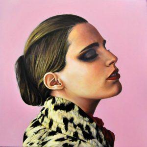 Obra Retrato Anna Calvi - Serie Musas - Artista pintor Antonio Morales Prats