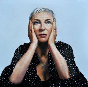 Obra Retrato Annie Lenox - Serie Musas - Artista pintor Antonio Morales Prats