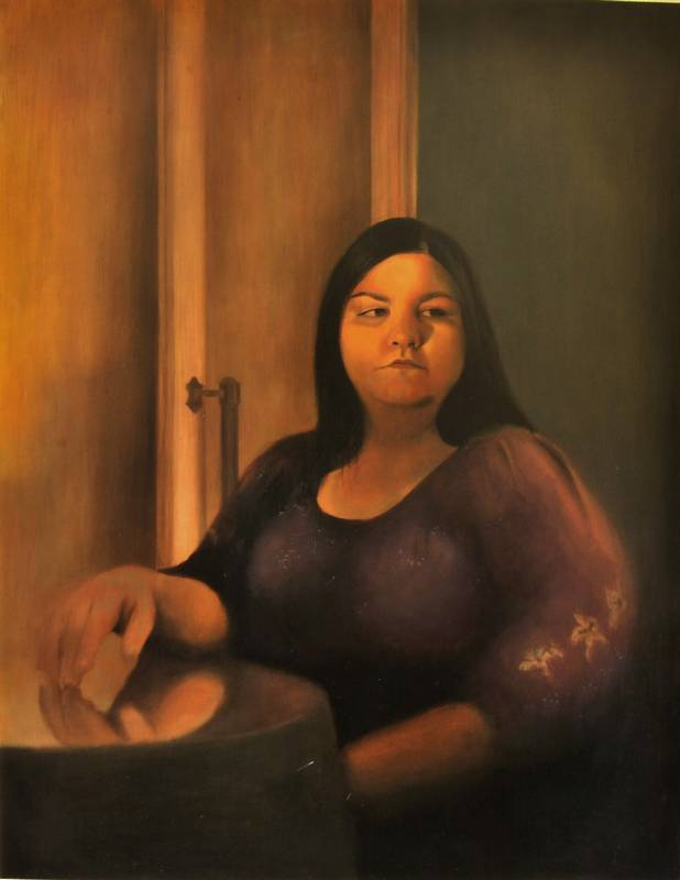 Obra Retrato Clío - Serie A nosotros - Artista pintor Antonio Morales Prats