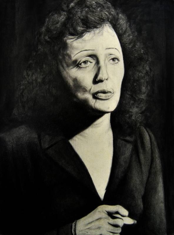 Obra Retrato Edith Piaf - Serie Musas - Artista pintor Antonio Morales Prats
