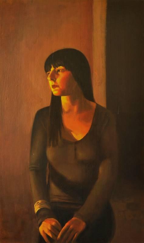 Obra Retrato Euterpe - Serie A nosotros - Artista pintor Antonio Morales Prats