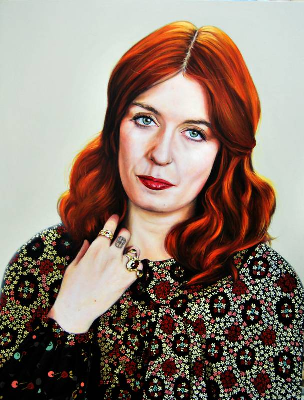 Obra Retrato Florence Welch - Serie Musas - Artista pintor Antonio Morales Prats