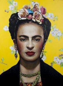 Retrato Frida Kahlo - Serie Artistudios - Artista pintor Antonio Morales Prats