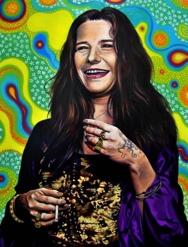 Obra Retrato Janis Joplin - Serie Musas - Artista pintor Antonio Morales Prats