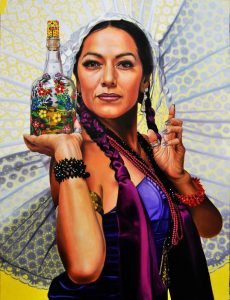 Obra Retrato Lila Downs - Serie Musas - Artista pintor Antonio Morales Prats