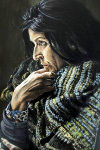 Retrato Lita Cabellut - Serie Artistudios - Artista pintor Antonio Morales Prats