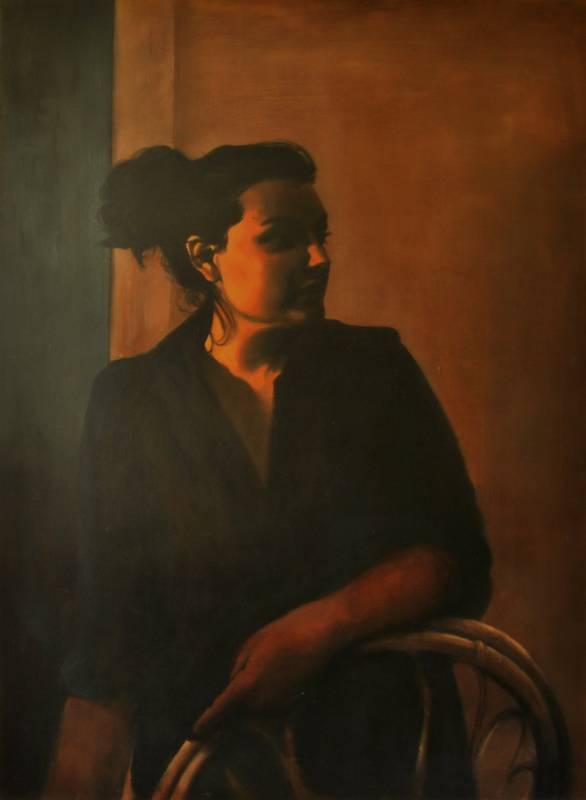 Obra Retrato Melpómene - Serie A nosotros - Artista pintor Antonio Morales Prats