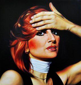 Obra Retrato Mina Mazzini - Serie Musas - Artista pintor Antonio Morales Prats
