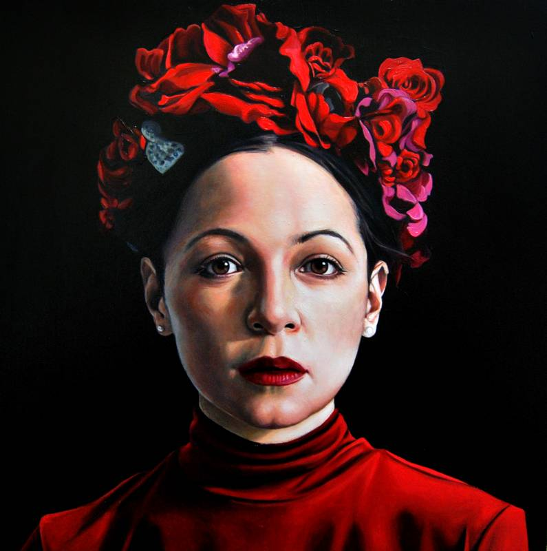 Obra Retrato Natalia Lafourcade - Serie Musas - Artista pintor Antonio Morales Prats