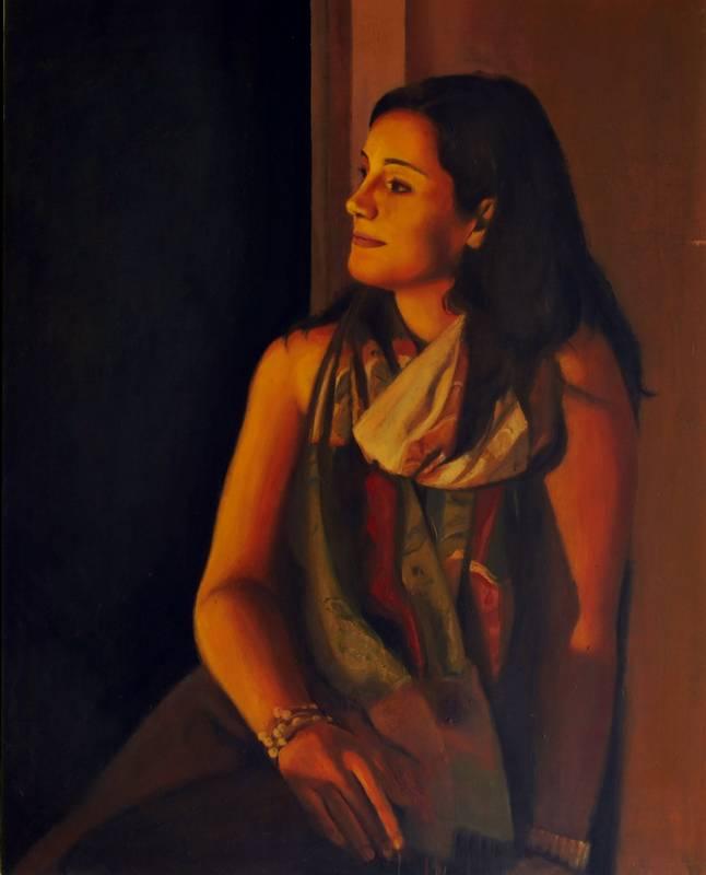 Obra Retrato Polimnia - Serie A nosotros - Artista pintor Antonio Morales Prats