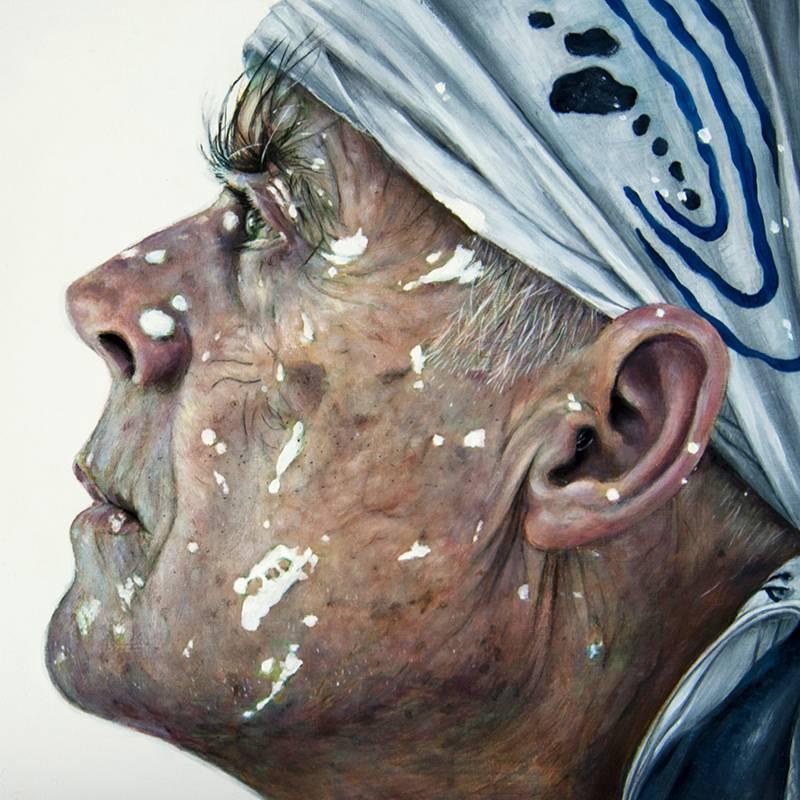 Retrato Richard Long - Serie Artistudios - Artista pintor Antonio Morales Prats