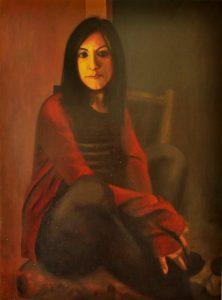 Obra Retrato Terpsícore - Serie A nosotros - Artista pintor Antonio Morales Prats