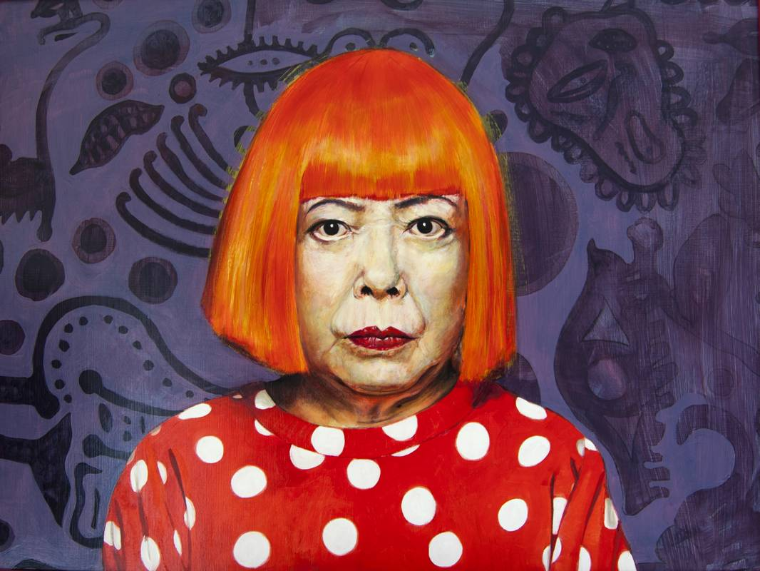 Retrato Yayoi Kusama - Serie Artistudios - Artista pintor Antonio Morales Prats