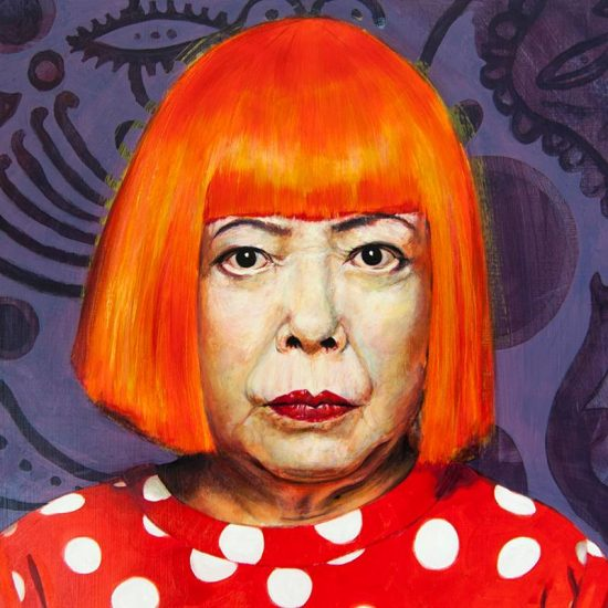 Obra Retrato Yayoi Kusama - Serie Artistudios - Artista pintor Antonio Morales Prats_detalle