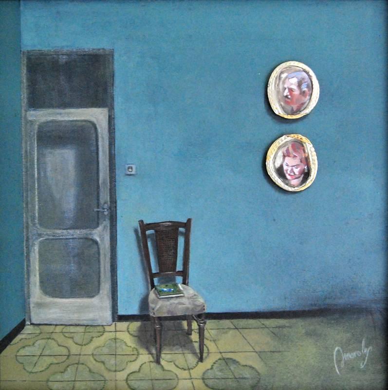 Obra Sala con camafeos - Serie A nosotros - Artista pintor Antonio Morales Prats