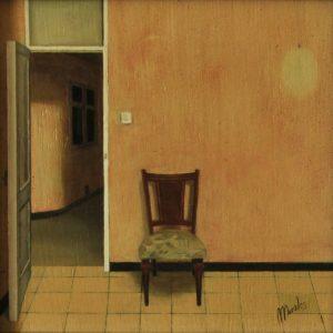 Obra Silla hogar - Serie A nosotros - Artista pintor Antonio Morales Prats