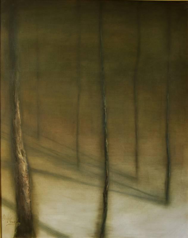 Obra Sombras I – Pintura – Serie Natura – Artista pintor Antonio Morales Prats