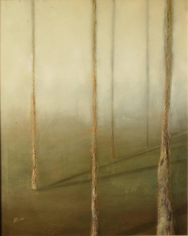 Obra Sombras II – Pintura – Serie Natura – Artista pintor Antonio Morales Prats