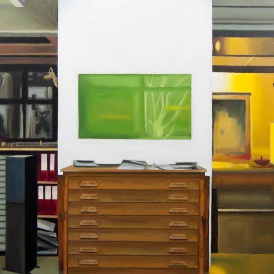Detalle Obra Sophie Calle - Serie Artistudios - Artista pintor Antonio Morales Prats