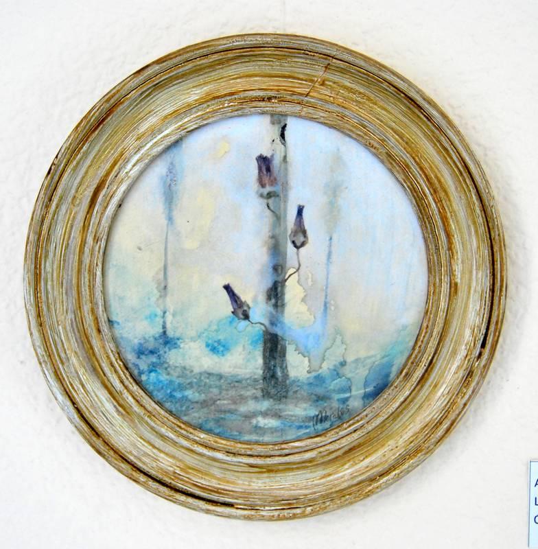 Obra Tres flores - Pintura - Serie Natura - Artista pintor Antonio Morales Prats