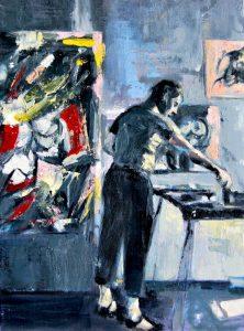 Obra Willem de Kooning - Serie Artistudios - Artista pintor Antonio Morales Prats_detalle
