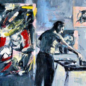 Detalle Obra Willem de Kooning - Serie Artistudios - Artista pintor Antonio Morales Prats_detalle